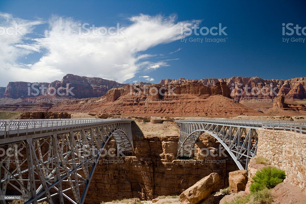 Navajo bridge royalty-free stock photo