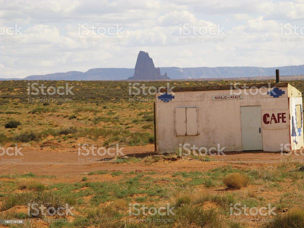 Navajo Cafe Abandoned royalty-free stock photo