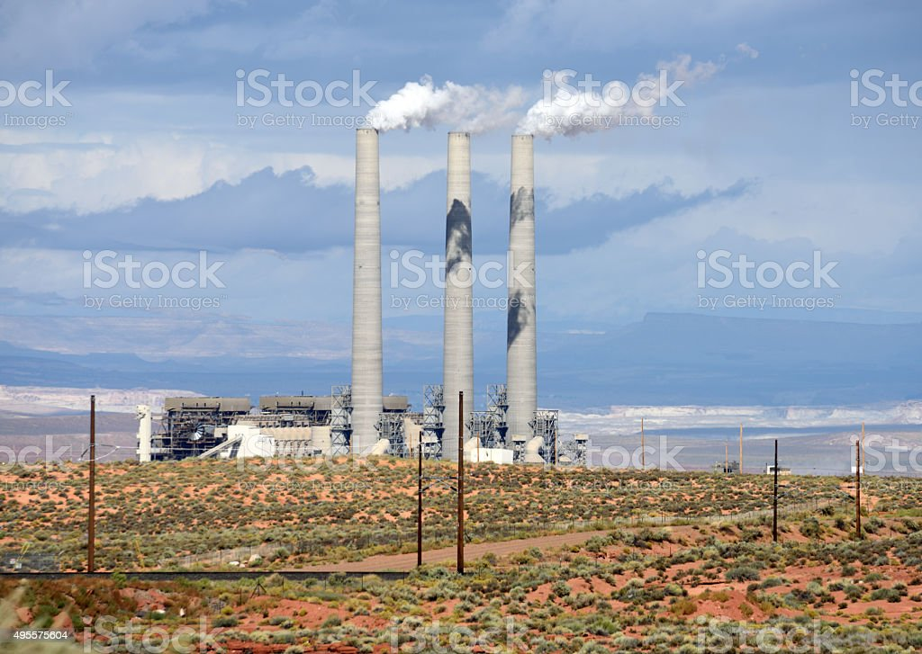 Navajo Generating Station at Page Arizona stock photo