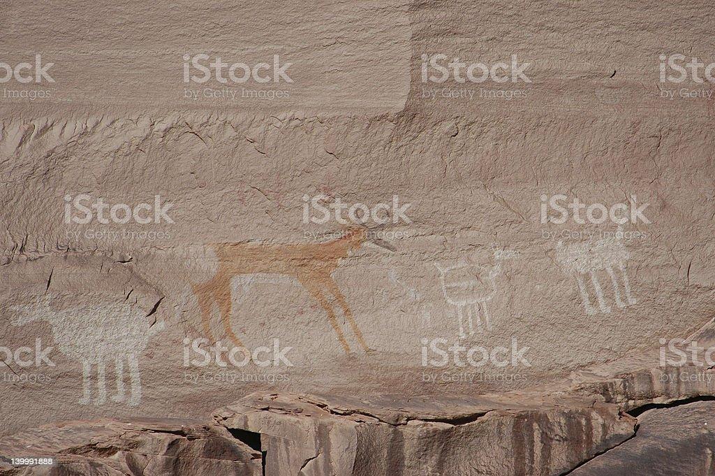 Navajo Pictographs royalty-free stock photo