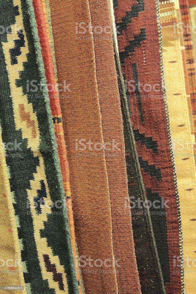 Navajo Rug Blanket Fabric Retail Display royalty-free stock photo