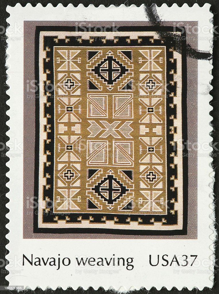 Navajo weaving design on a rug royalty-free stock photo