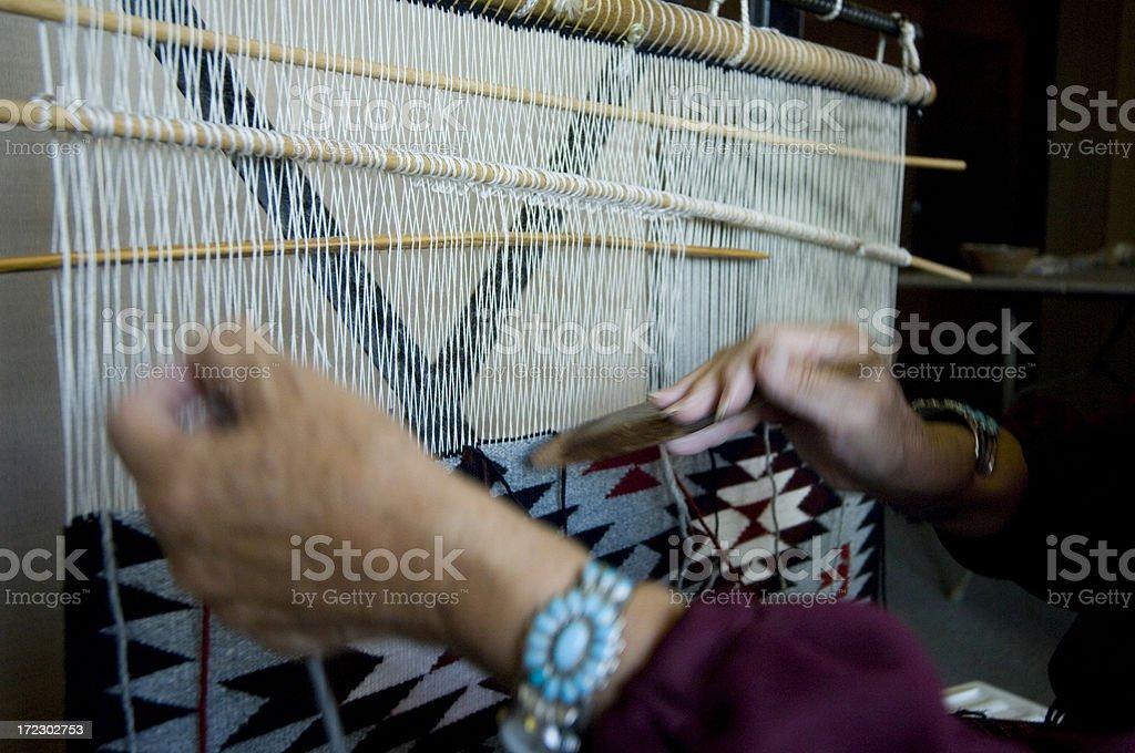 Navajo weaving royalty-free stock photo