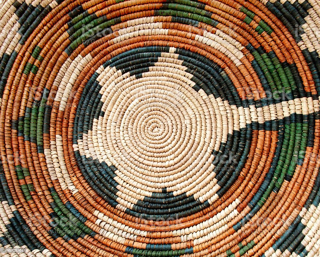 Navajo Wedding Basket Backfround stock photo