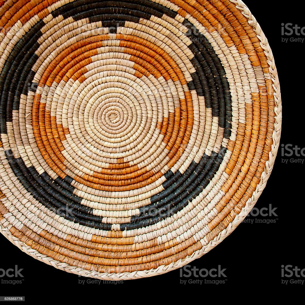 Navajo Wedding Basket Pattern Background stock photo