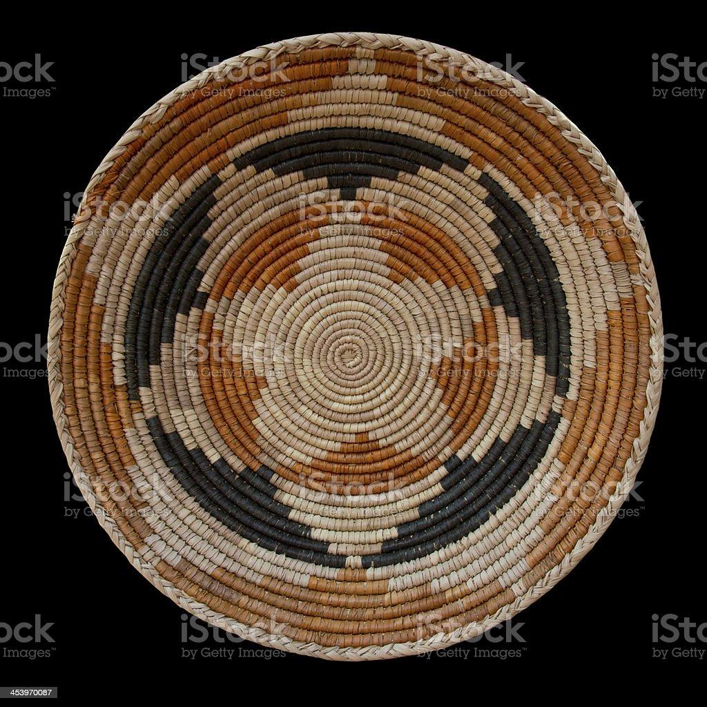 Navajo Wedding Basket stock photo