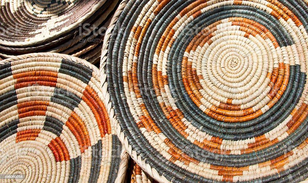 Navajo Wedding Baskets stock photo