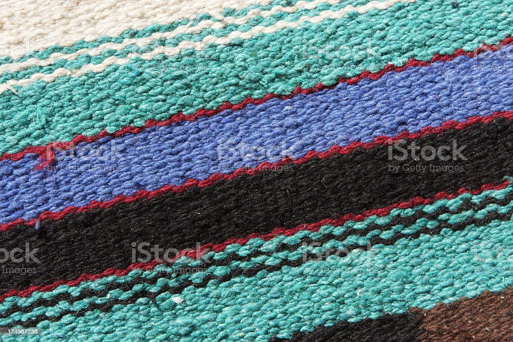 Navajo Woven Wool Blanket Rug royalty-free stock photo