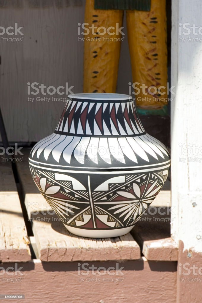 Navajos Pottery royalty-free stock photo