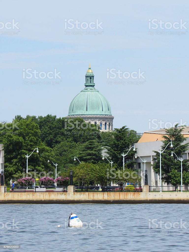 Naval Academy Chapel, Annapolis, Maryland stock photo