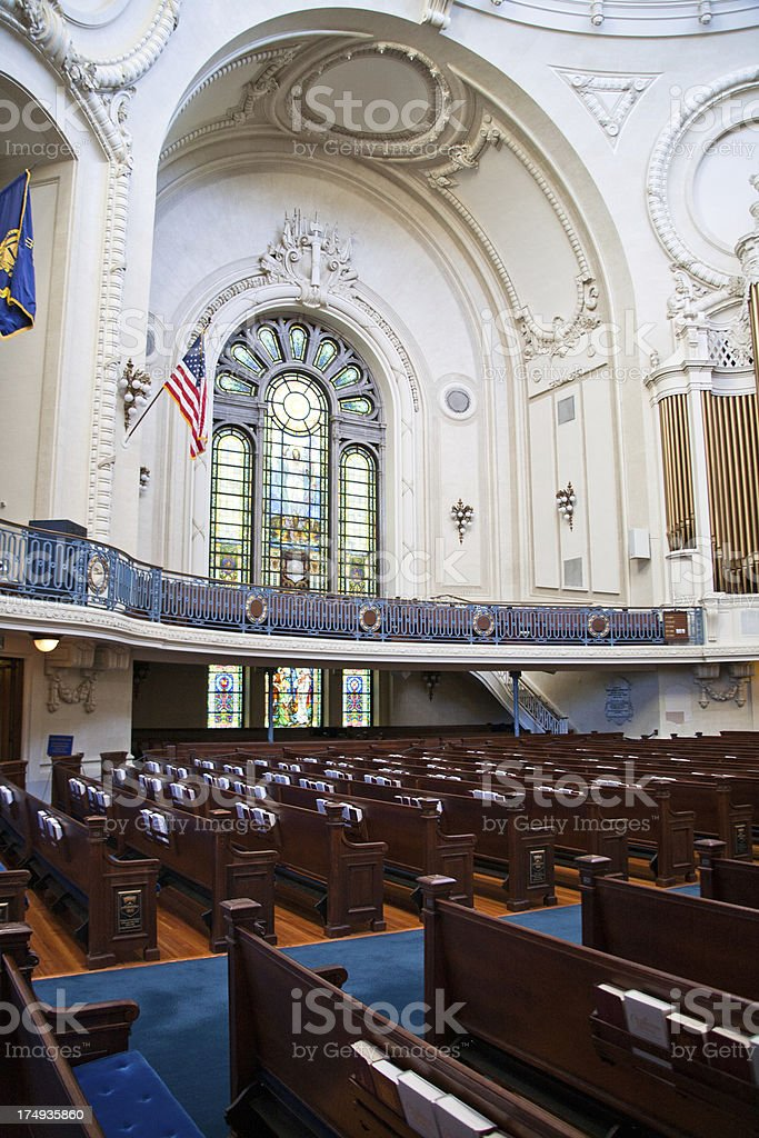 US Naval Academy Chapel Interior stock photo