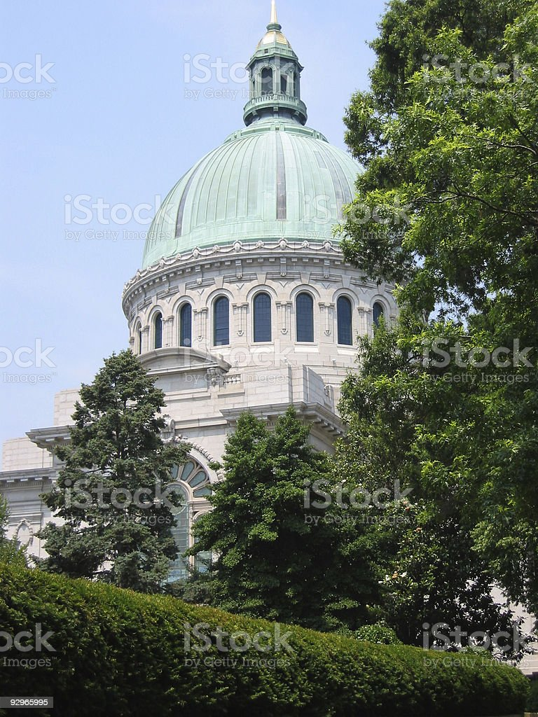 U.S. Naval Academy Chapel (Annapolis, MD) stock photo