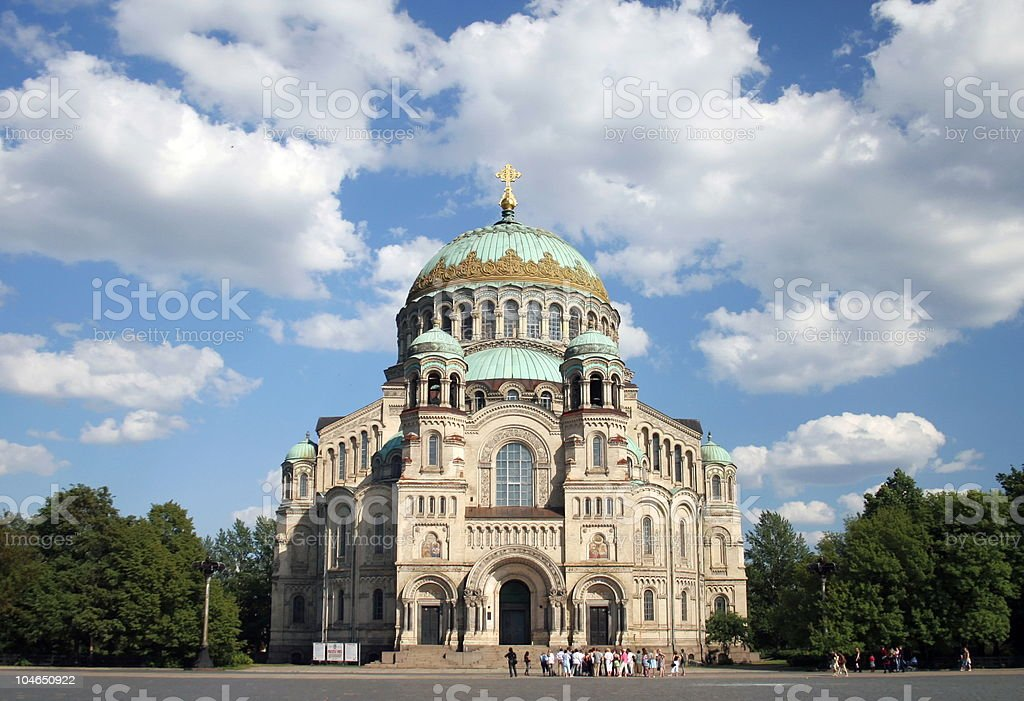 Naval cathedral in Kronstadt royalty-free stock photo