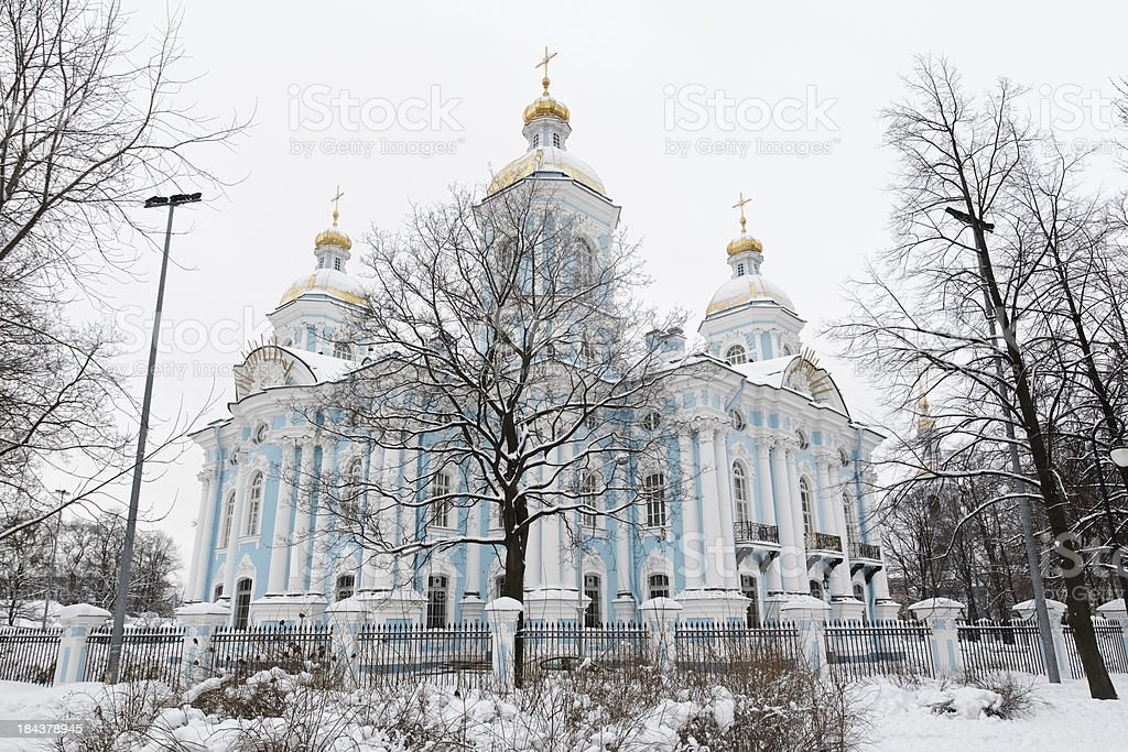 Naval Cathedral of St Nicholas stock photo