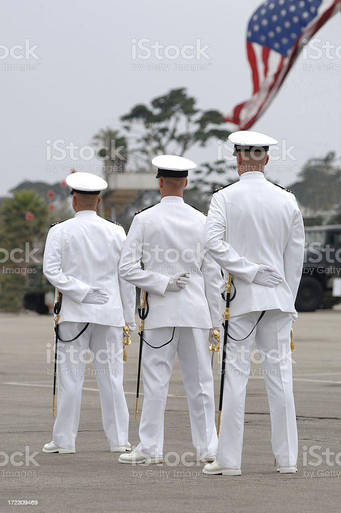 Naval Ceremony royalty-free stock photo