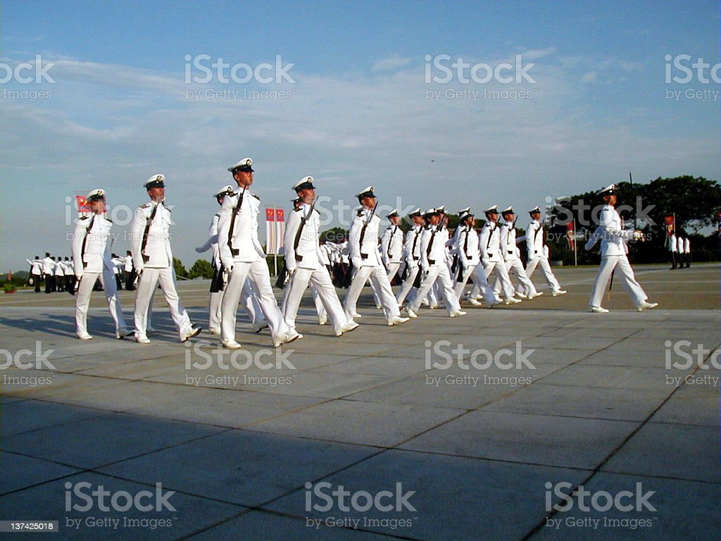 Naval Officers on Parade stock photo