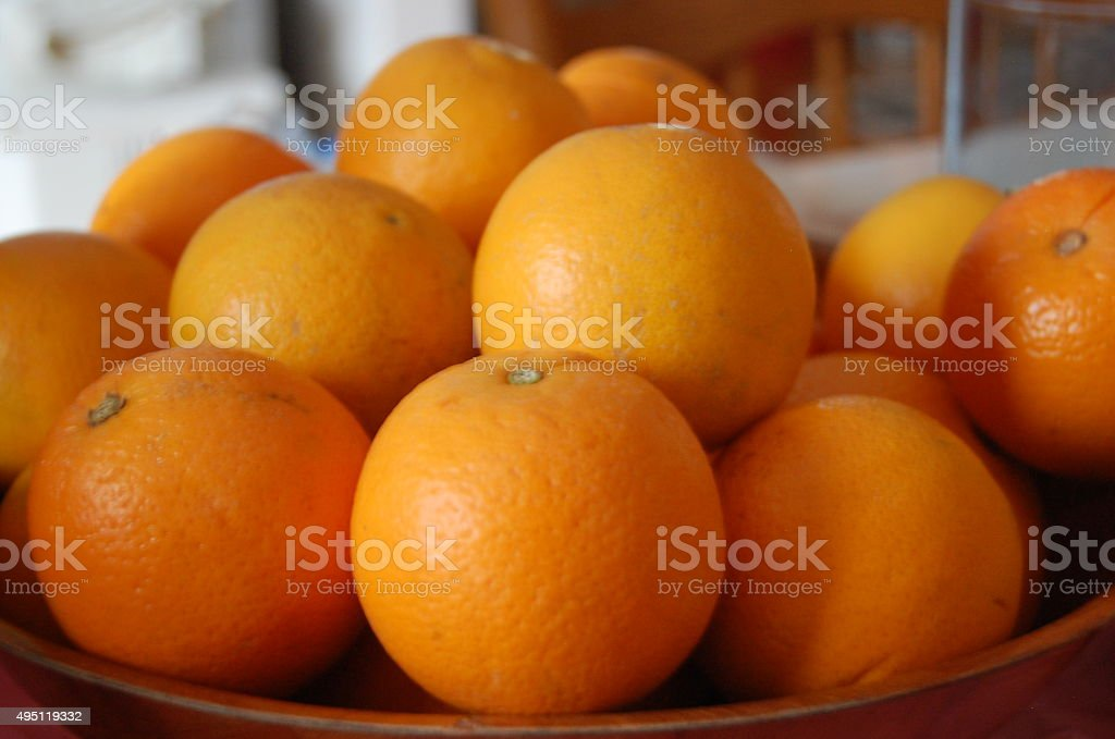 Naval Oranges royalty-free stock photo