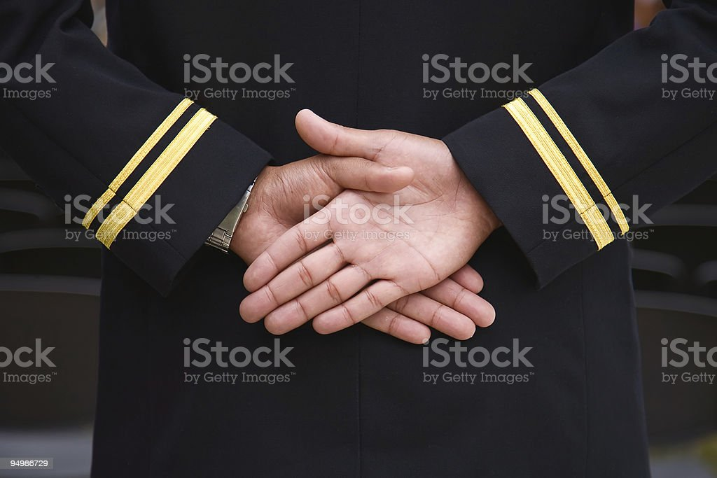 Naval recruit hands. royalty-free stock photo