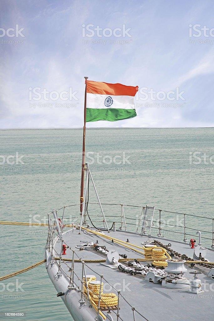 Naval ship royalty-free stock photo