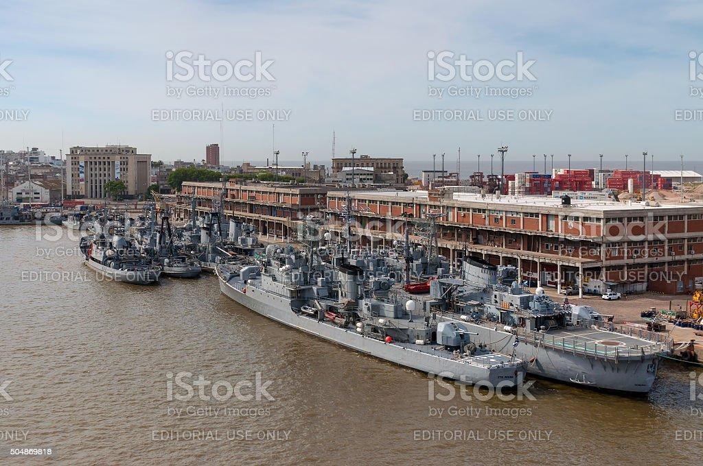 Naval ships stock photo