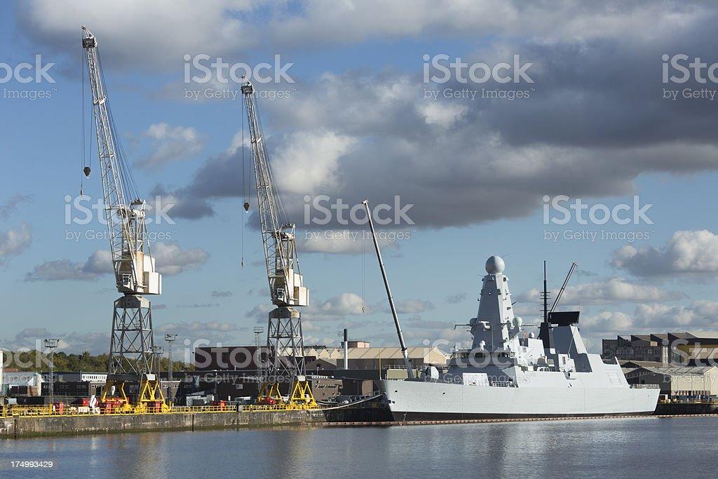 Naval Shipyard, Glasgow stock photo
