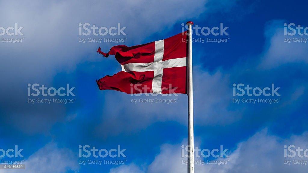 Naval version of the danish flag dannebrog stock photo