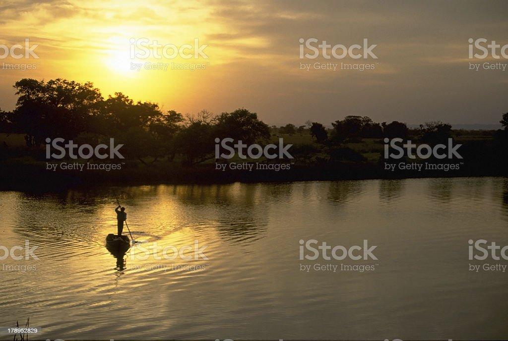 Navegando en balsa stock photo