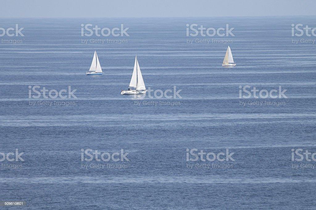 Navegando en el mar stock photo