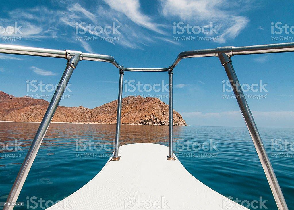 Navegando por baja california sur stock photo