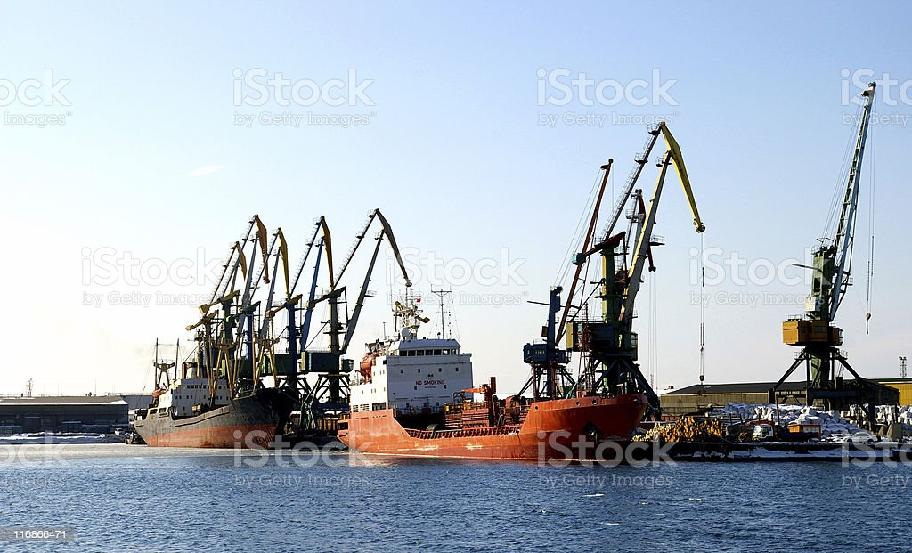 Naves in port royalty-free stock photo