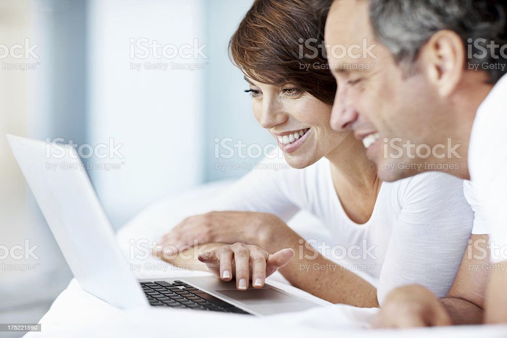 Navigating the net is easy! stock photo