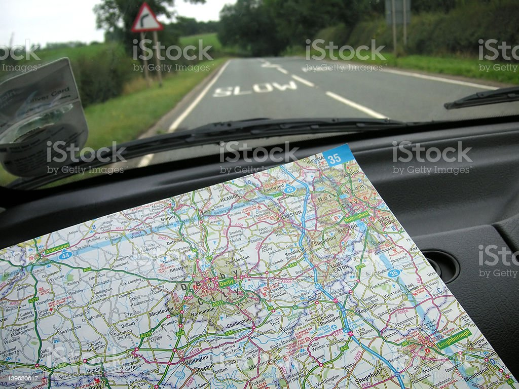 navigating the roads stock photo