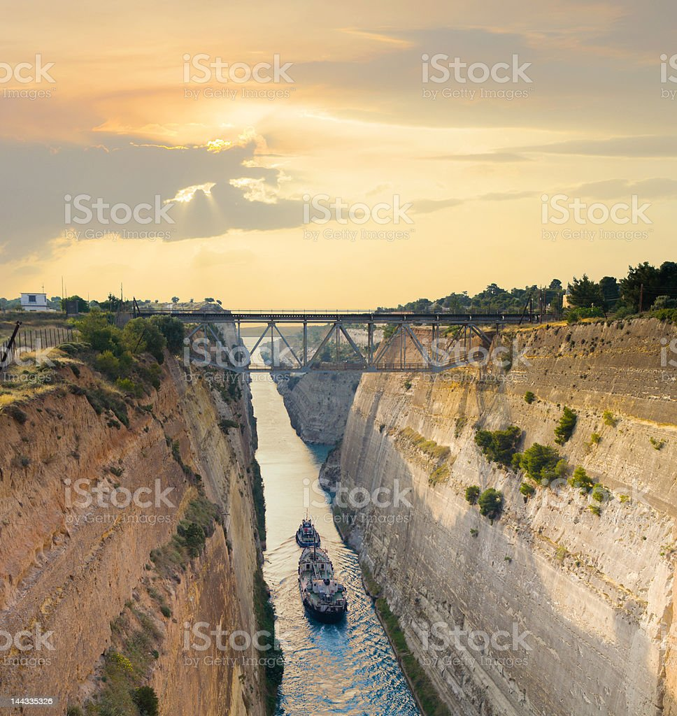 Navigating through Greece stock photo