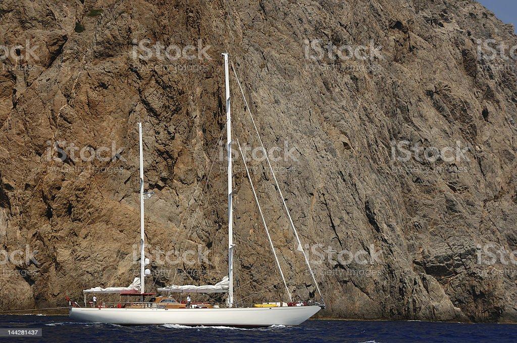 navigation along the coastline royalty-free stock photo