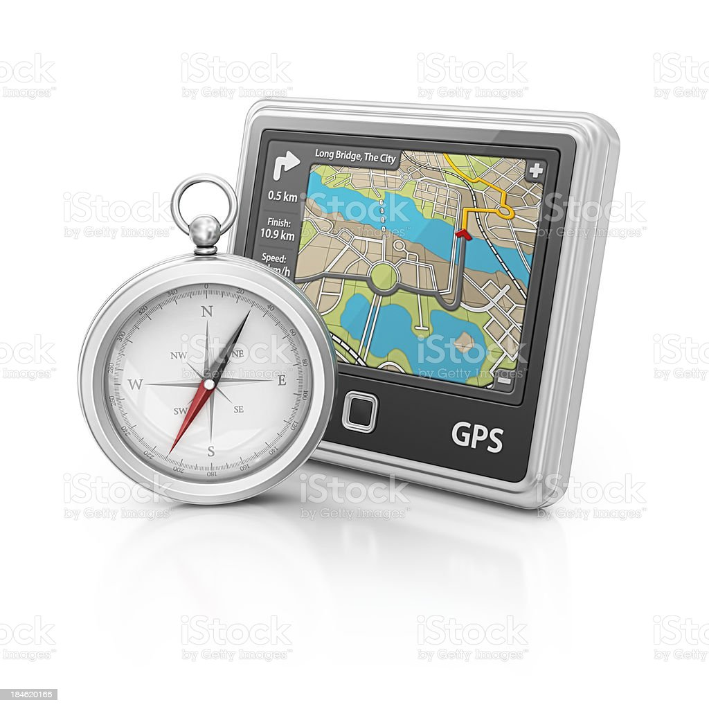 navigation and compass stock photo