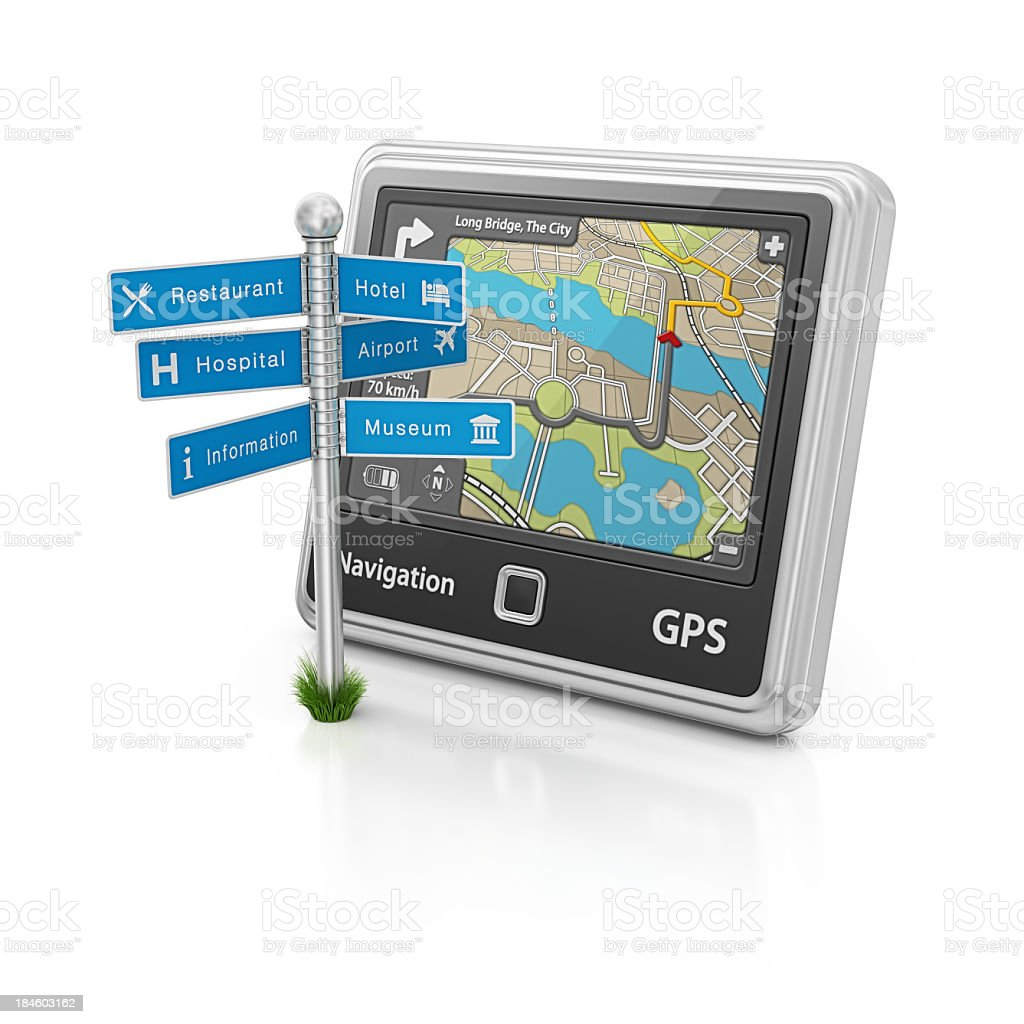 navigation and turist sign post royalty-free stock photo