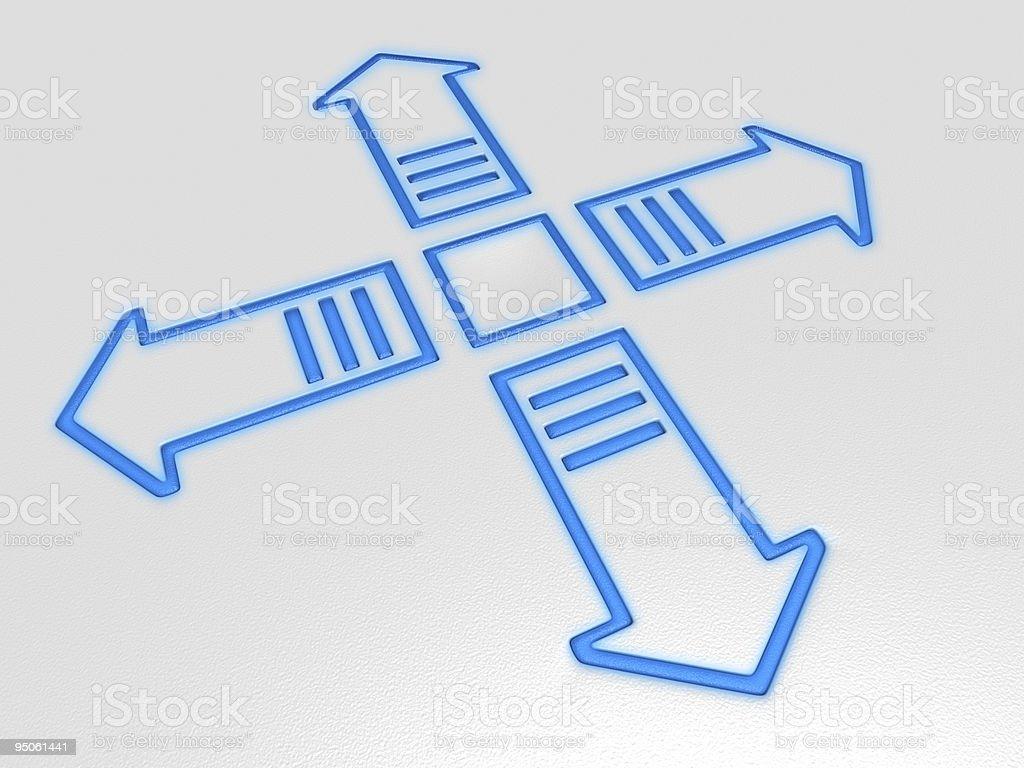 navigation arrows royalty-free stock photo