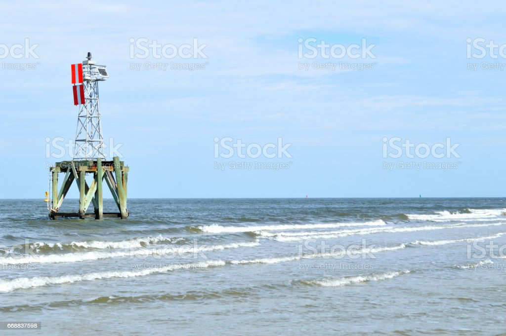 Navigation beacon stock photo