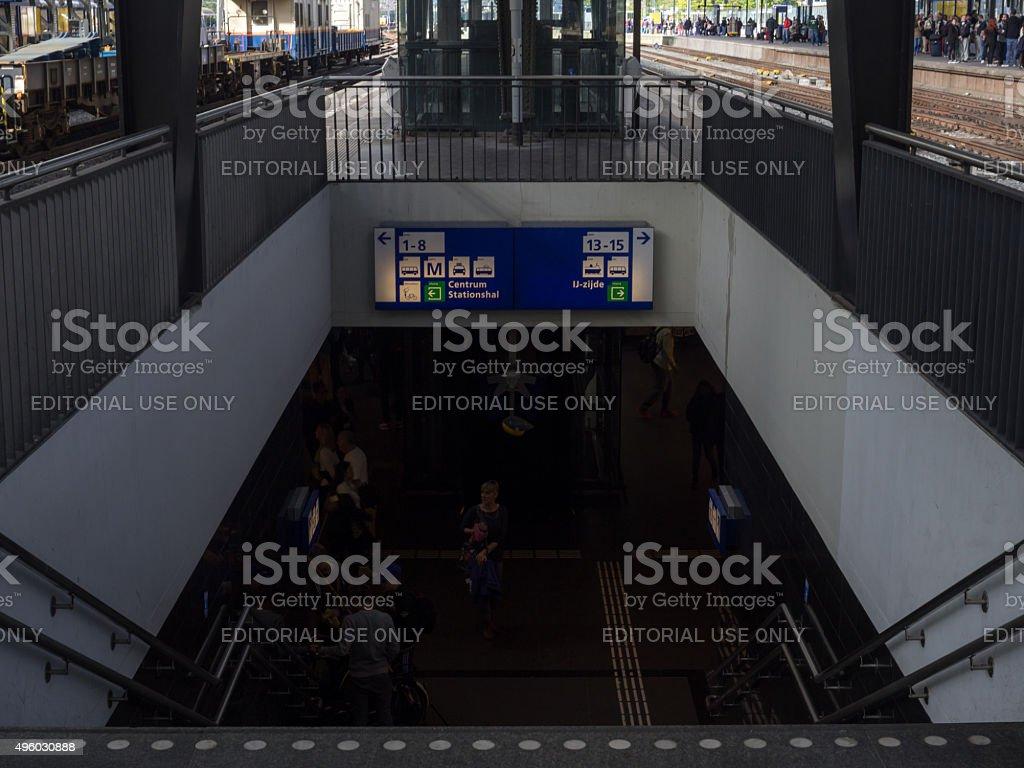 Navigation board in Railway Station stock photo