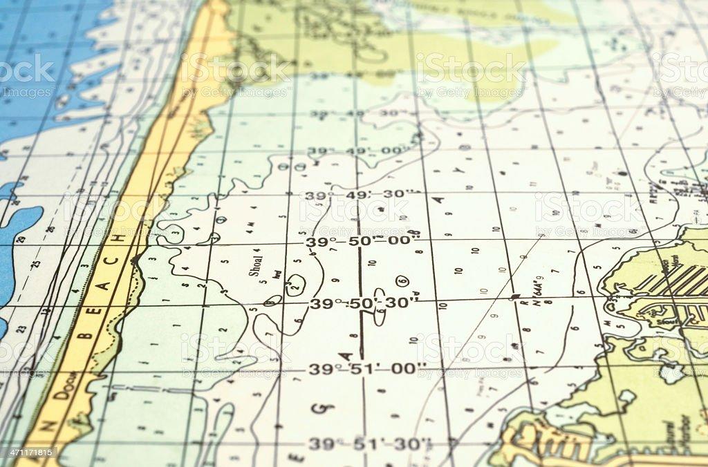 navigation chart stock photo