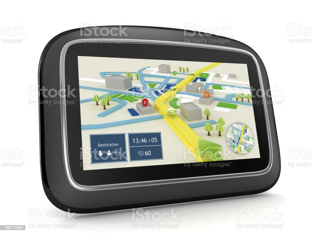 GPS navigation device royalty-free stock photo