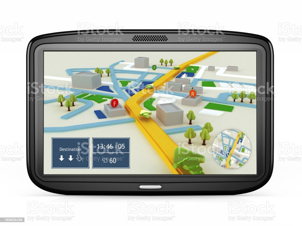 GPS navigation device royalty-free stock photo