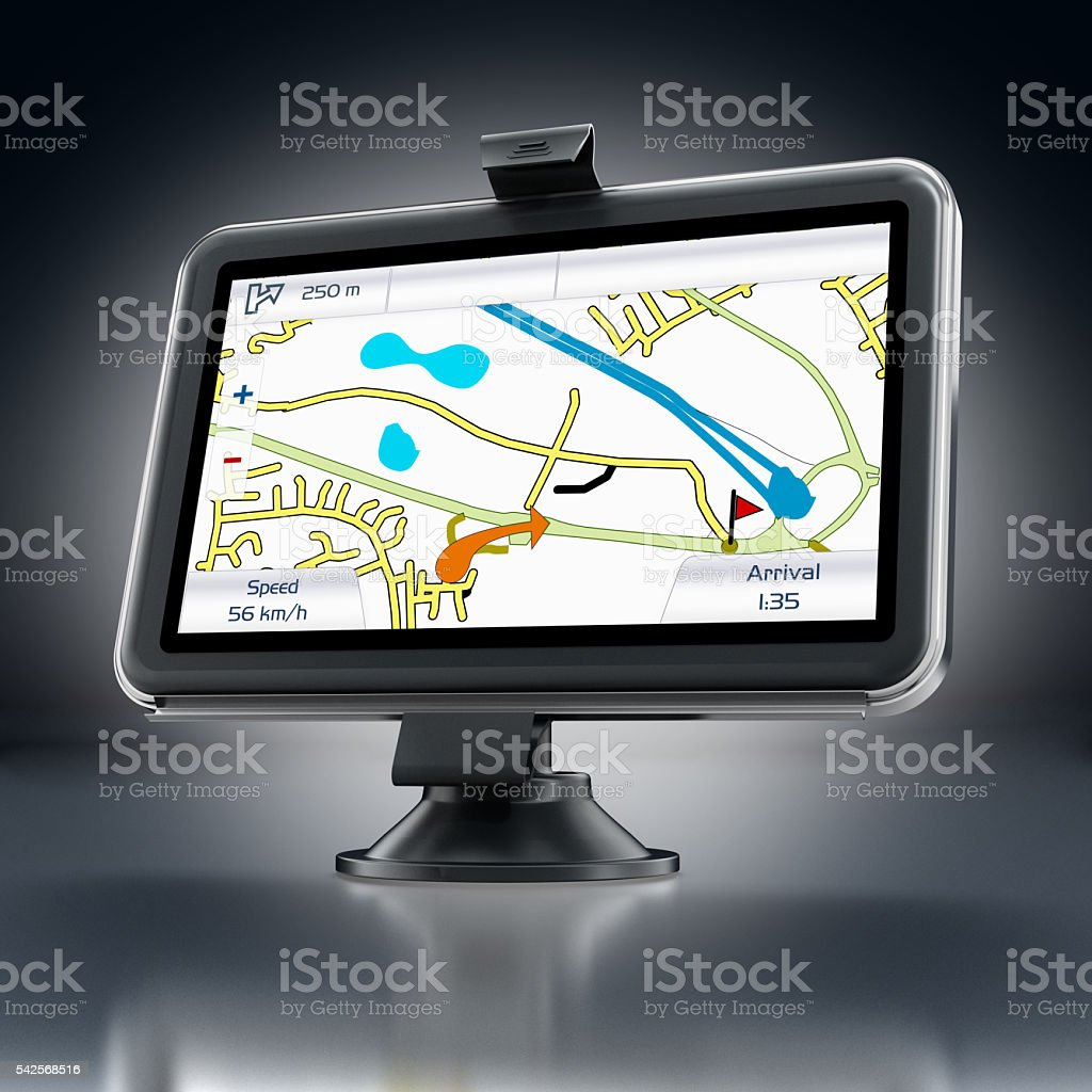 GPS navigation device stock photo