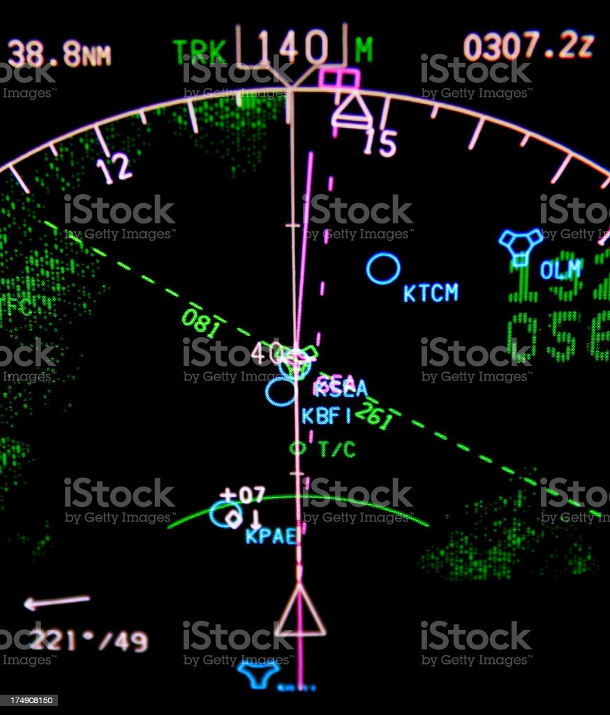 navigation display royalty-free stock photo