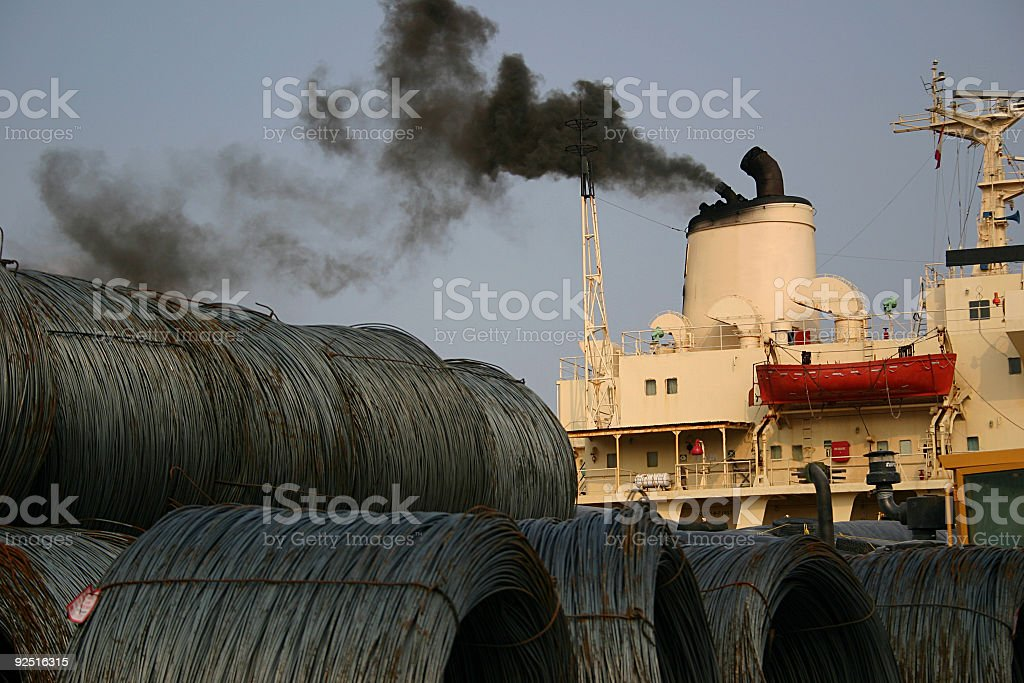 Navigation, Freighter ready to Dock. Stock Photo royalty-free stock photo