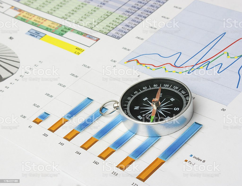navigation in economics and finance royalty-free stock photo