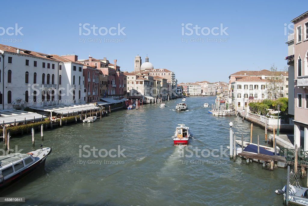 Navigation in Venice Grand Canal royalty-free stock photo