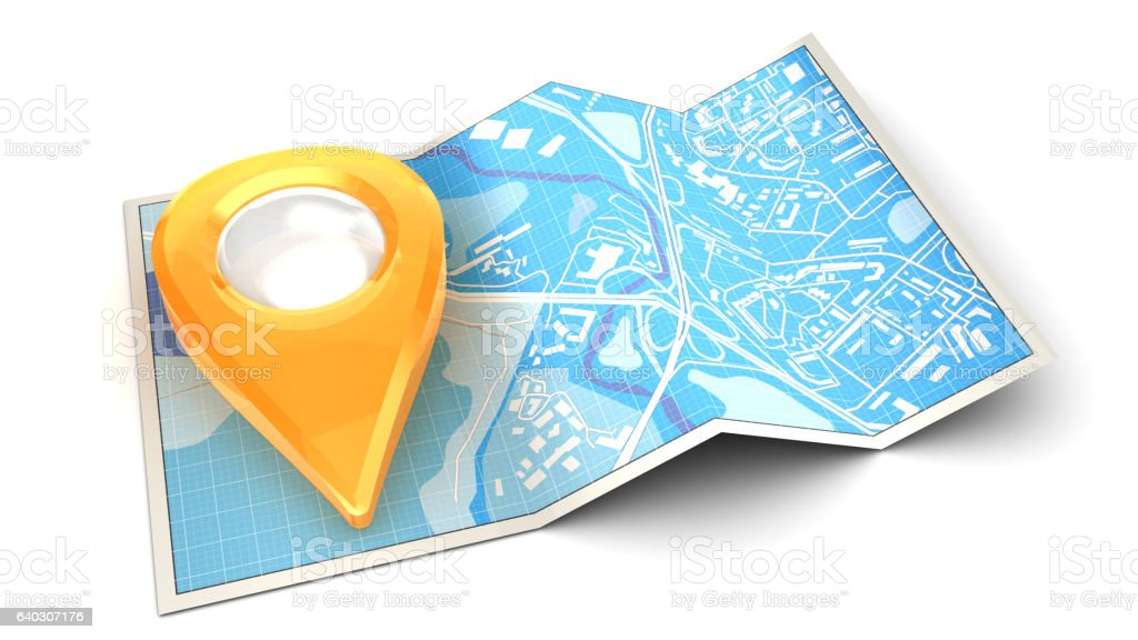 navigation map stock photo