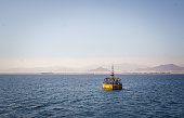 Navigation of ships in the Red Sea. The beacon
