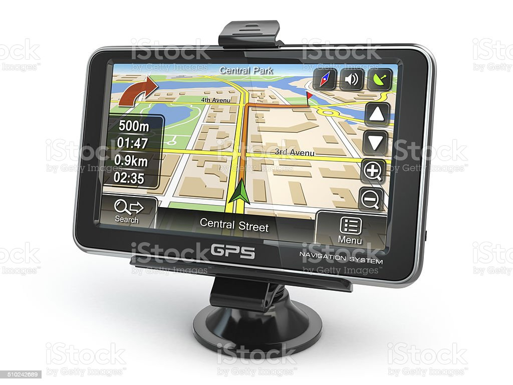 GPS navigation system. stock photo
